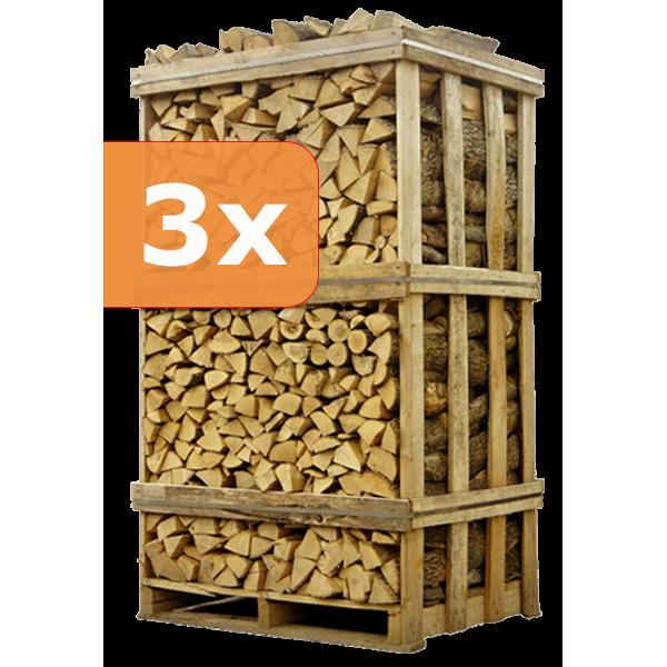 SUMMERSALE | 3 pallets ovengedroogd berkenhout | 250 euro/pallet