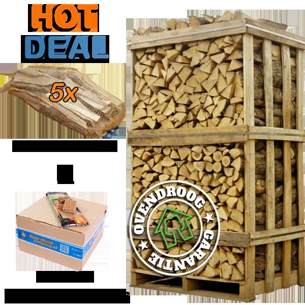 Hot deal ovengedroogd essen haardhout