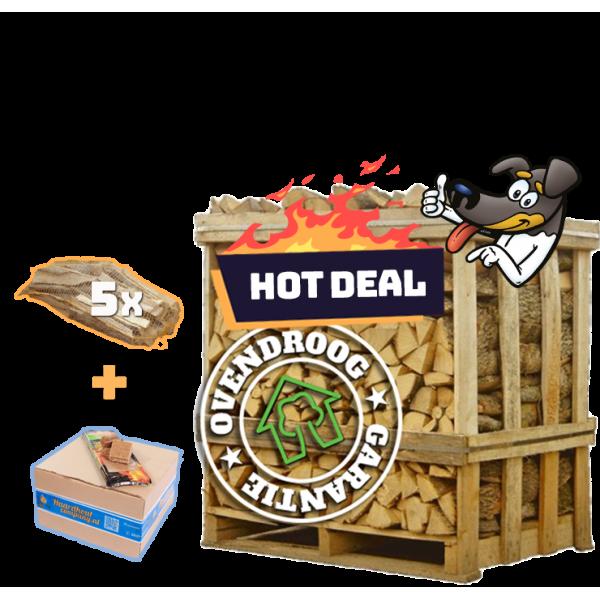 Berkenhout   hot deal (ca.120x80x120cm)  aanmaakhout   aanmaakblokjes