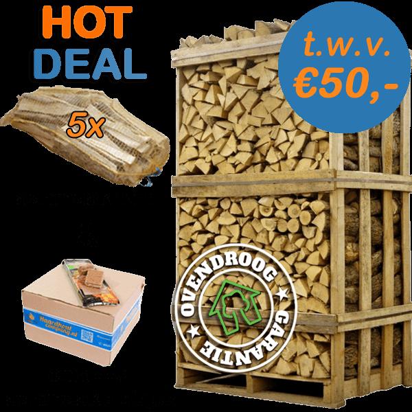 Eikenhout | hot deal (ca.120x80x210cm) | aanmaakhout | aanmaakblokjes